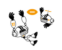 OS1463 Carton Removable Pvc Rugby Robot Boy Children's Room Wall Stickers Decals Free shipping