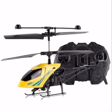 Yellow 2CH Mini RC Helicopter Remote Control Radio Aircraft Electric Micro 2 Channel -B116(China)
