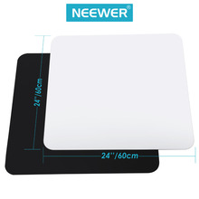 Neewer 24x24inch/60x60cm Acrylic White&Black Reflective Display Table Background Boards for Product Table Top Photography Studio(China)