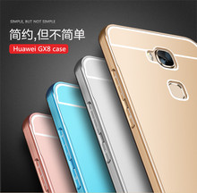 Huawei GX8 Case Cover High Quality Aluminum Alloy Frame PC Back Cover fundas Huawei GX8 phone bag tracking number