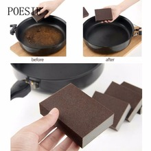 High Quality Sponge Kitchen Nano Emery Magic Clean Rub The Pot Except Rust Focal Stains Sponge 1pcs(China)
