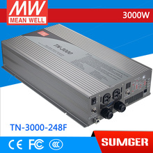 1MEAN WELL TN-3000-248F GFCI Standard 230V meanwell TN-3000 3000W True Sine Wave DC-AC Inverter with Solar Charger(China)