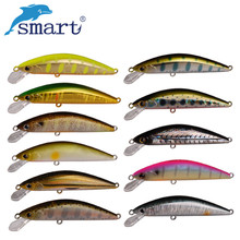 Smart 55mm/4.6g Minnow Lures Sinking VMC Hook Iscas Artificial Pesca Leurre Dur Peche Souple Broch Hard Fishing Bait Kunstaas(China)