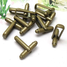 100pcs Wholesale Antique Bronze French Cuff links Bezel Blank Jewelry Findings Cufflinks for DIY Jewelry Making(China)