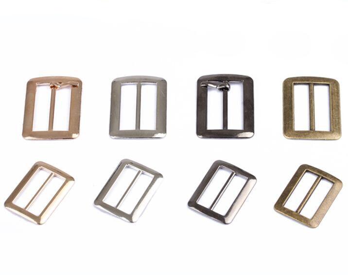 "10Pcs 1.5/"" Metal belt buckle end tip for cotton webbing tag bag key fob chains H"