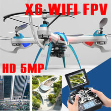 KAINISI Tarantula X6 WIFI FPV 5.8GHz Real time 5MP HD Camera RTF Drone 4CH Quadcopter rc helicopter Original Product(China)