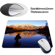 Fly Fishing the Snake River, Wyoming Rubber Soft aming Mouse ames Black Mouse pad