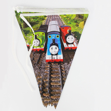Free Shipping 5pack/lot Thomas movie kid boy girl baby birthday party decoration kits supplies favors pennant