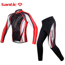Buy Santic Winter Long Sleeve Cycling Jersey Set Bicycle Bike Clothing Men Cycling Long Sleeve Set Long Sleeve Dress WMCT023 for $50.72 in AliExpress store