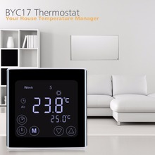 Floureon BYC17GH3 LCD Touch Screen Room Underfloor Heating Thermostat Weekly Programmable Thermoregulator Temperature Controller