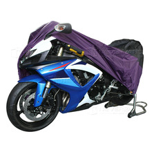 XL 245*105*125cm Motorcycle Covering Waterproof Scooter Cover UV resistant Heavy Racing Bike Cover Outdoor Purple D10