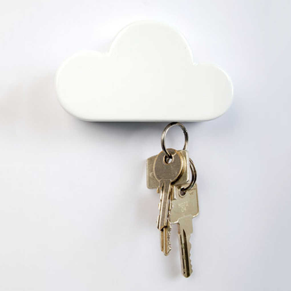 2018 New High Quality Cloud Shape Magnetic Magnets Wall Key Holder Keys Securely
