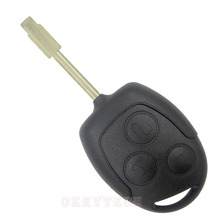 Okeytech 3 Buttons Blade Uncut For Ford Mondeo Focus 2 3 Festiva Fiesta Transit remote key blanks Car Key Shell Case