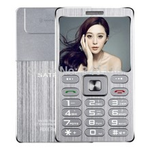 Small Size Metal Shell Card Mini Phone SATREND A10 1.77 Inch TFT Dual SIM Card with Bluetooth Dialer Function 480mAh