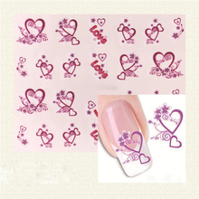 1 Pc Heart Designs Nail Stickers Nails Polish Strips Korea Vinyls Water Transfer Nail Art Summer Nails Decorations