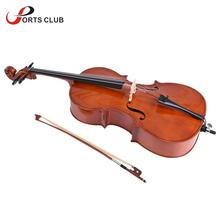 NEW! 3/4 Cello Solid Wood Basswood Face Board Natural Horse tail Bow Hair with Bow Rosin Carrying Bag for Music Lovers(China)