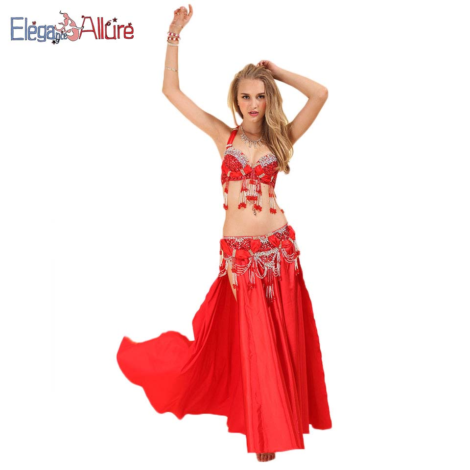belly dance clothes red