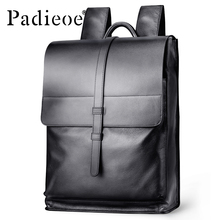 Padieoe Genuine Leather Backpack Women Fashion School Bag for Teenagers Casual Rucksacks Men Leather Laptop Brand Mochila Bags