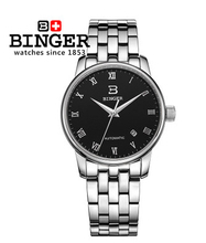 Big Discount Brand New 2017 Luxury Mens Automatic Watch Original Binger Mechanical Watches Golf Sport Men Wristwatch Hotsale(China)