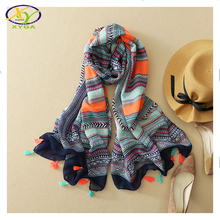 2016 Autumn New Design Ethnic Style Acrylic Cotton Women Thin Long Scarf Woman Viscose Big Size Pashminas Shawl Wrap