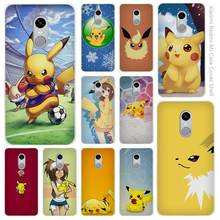 Japanese anime Cartoon Pikachues Clear Cover Case Coque Xiaomi Redmi Mi Note 3 3s 4 4A 4X 5 5S 5C 6 Pro - Miccases Shop store