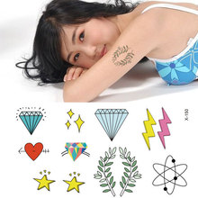 Waterproof temporary tattoos Men and women with small and pure and fresh tattoo sexy lip prints love waist figure X - 150(China)