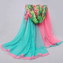 Women  Scarf Cotton Voile Scarves 2016 Women Fashion Scarves Solid Warm Autumn And Winter Scarf Shawl Printed Free Shipping