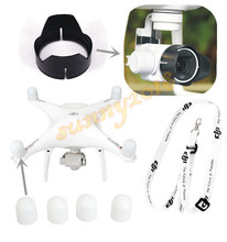 DJI Phantom 4 3 Camera Lens Sun Hood Cap + Motor guards + Lanyard Neck strap
