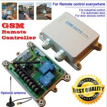 waterproof GSM-AUTO GSM Remote Control System Relay Control for automatic barrier gate swing sliding gate garage door(China)