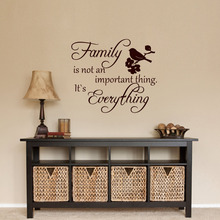Wall Decals Quote Family Is not an Important Thing Vinyl Sticker Bird Decal Home Decor