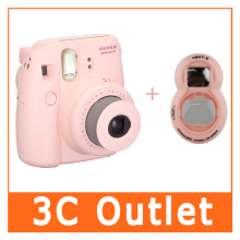 Original Fujifilm Instax Mini 8 Camera + Close-up Lens, (2 In 1 Pink Set)