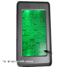 4.0 Touch LCD Wireless Weather Station Thermometer Hygrometer Rain Wind Barometric Pressure PC Interface Solar Weather Forecast(China)