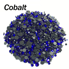 DMC Cobalt Hotfix Rhinestone Mixed size 2/3/4/5/6mm 2060Pcs/lot Flatback stones for rhinestone motifs free shipping