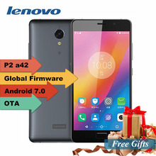 "Original Lenovo Vibe P2 5.5"" FHD Gorilla Glass android 6.0 4G TD LTE smartphone 4GB RAM 64GB ROM 13MP TOUCH ID NFC 5100mAh(China)"