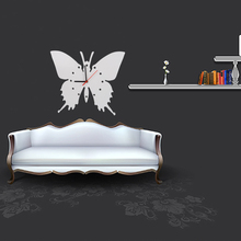 Exquisite Luxury Creative Personality Silent Wall Clock Living Room Modern Fashion Simple Butterfly Wall Clock