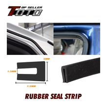 "40"" 100cm 5mmx7.5mm U Channel PVC Black Edge Rubber Seal Trim Noise Insulation Car Truck Door Protector Weatherstrip pillar"
