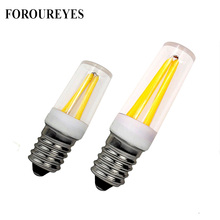 E12 LED Lamp 220V 110V E14 Fridge Light Bulb Filament COB lamparas For Chandelier replace 30W 40W Halogen Light(China)