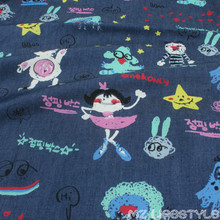 50*145cm width 100% cotton washed denim fabric DIY  sewing fashion apparel making cotton fabric