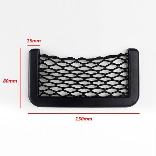 15X8cm For Tools Mobile Storage Side Organizer Pockets Car Adhesive Visor Back Elastic Black Storage Automotive Bag Box