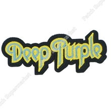 DEEP PURPLE Logo Music Band Metal Rock Punk retro sew applique iron on patch Biker Vest Patch Wholesale Free Shipping(China)