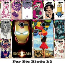 Soft Silicon TPU Or Plastic Mobile Phone Skin Covers Cases For ZTE Blade L3 5'' Cases Bag 18 Style Paint Protective Back Covers