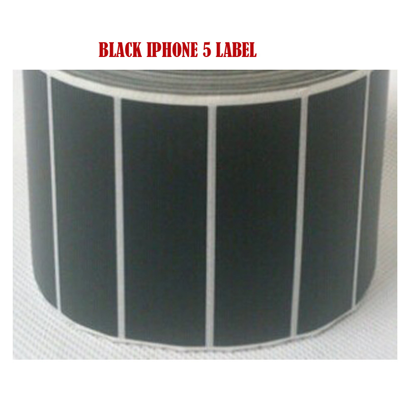 specialized mobile phone 5 white packaging box blank Black Label paper  HS-6924(69*22mm*2000pcs)<br>
