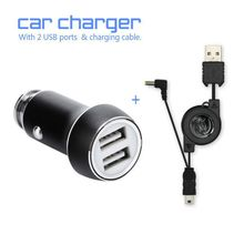 Car Charger Metal Casing Dual USB Ports Fast Charging Universal Game Accessories For Sony PSP 1000-3000 & All Android or IOS(China)