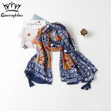 2017 Fashion Shawl Beach towel Oversized dual use Woman Brand Cotton Thin section Yellow Totem Silk Scarf Seaside tourism