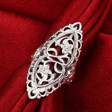 3pcs/lot silver plated ring hollow big retro ring fashion style top quality cool classic charm ring jewelry Europe Hot