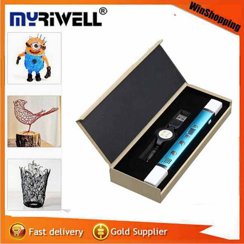 2017 Safest 3D Pen For Kids DIY 3D Pens Printing Drawing Toys Gifts Original MYRIWELL LCD Display Screen 1.75mm ABS/PLA Filament<br><br>Aliexpress