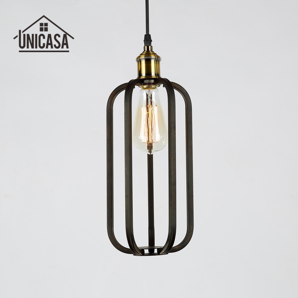 Industrail Metal Pendant Lights Vintage Wrought Iron Lighting Hotel Office Bar Kitchen Island Antique Mini Ceiling Lamp Black <br>