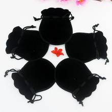 Wholesale 7x9cm Drawstring Black Velvet Bags Pouches Jewelry Christmas Valentines Gift Bags 100pcs/lot Free Shipping