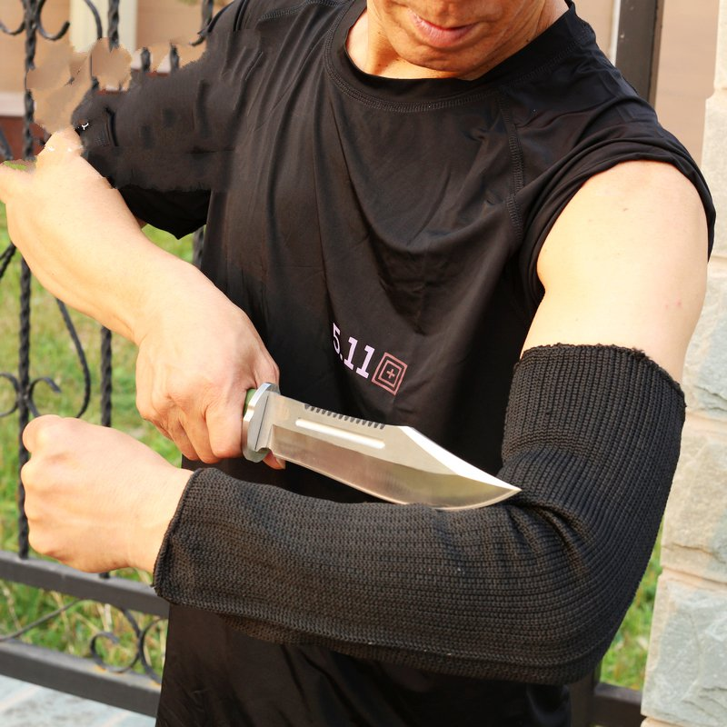 Level 5 cut-resistant armband thick steel anti- cut knife stab- proof glass scratch-resistant self-defense products<br>