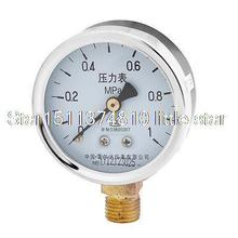 "Air Pressure Testing 1/4""PT Thread 0-1Mpa Rounded Casing Compressor Gauge"